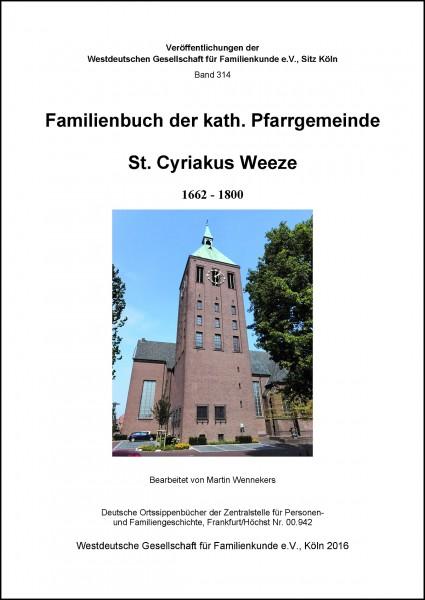 Familienbuch Weeze kath. 1662-1800