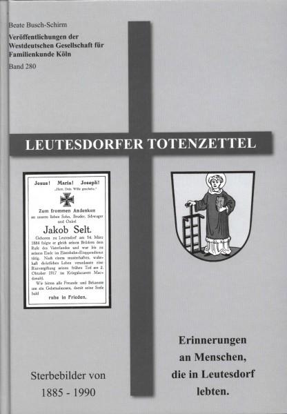 Leutesdorfer Totenzettel 1885 - 1990