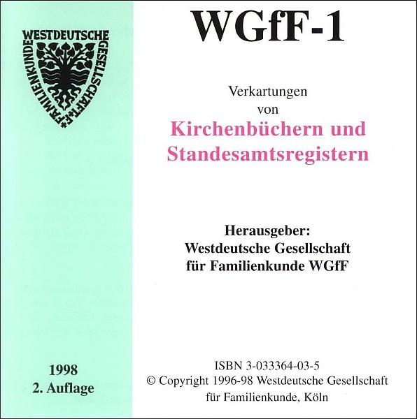 Verkartungen auf CD/DVD: WGfF-1 (Vol. 1)