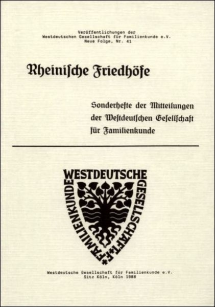 Rheinische Friedhöfe Heft: 1,2,4