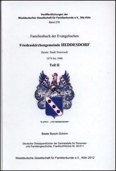 Familienbuch Heddesdorf 1674 - 1840