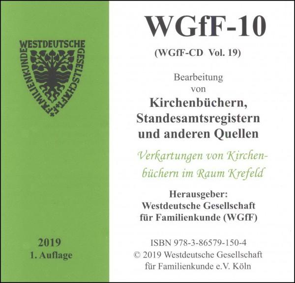 Verkartungen und Familienbücher auf CD/DVD: WGfF-10 (Vol.19)