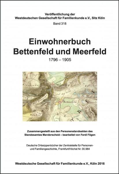 Einwohnerbuch Bettenfeld-Meerfeld 1796 - 1905