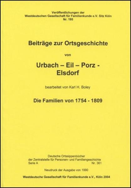Familienbuch Urbach (Köln-Porz)