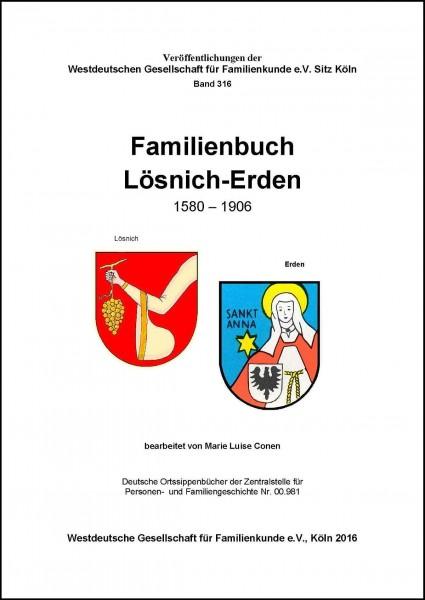 Familienbuch Lösnich-Erden 1580-1906