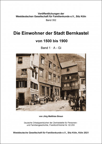 Familienbuch Bernkastel 1500 bis 1900. 4 Bände.