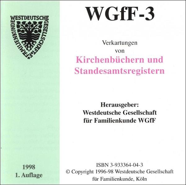 Verkartungen auf CD/DVD: WGfF-3 (Vol. 3)