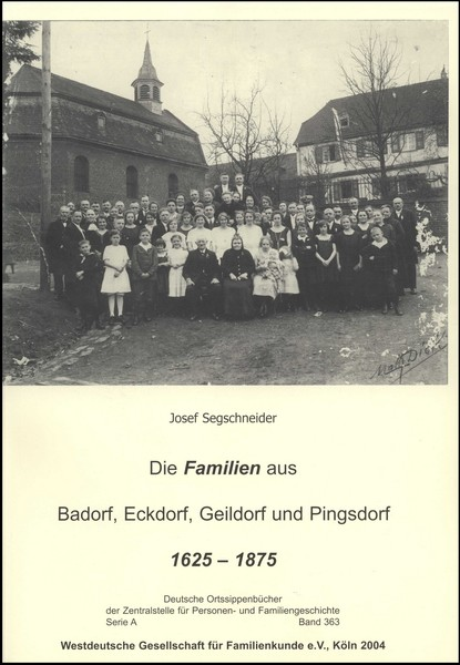 Familienbuch Badorf / Eckdorf / Geildorf / Pingsdorf (1625 - 1875)