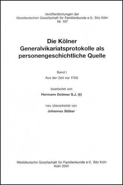 GVP - Bd. 01: - vor 1700