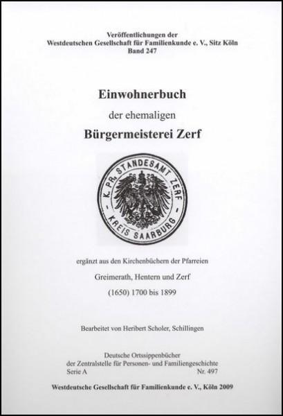 Familienbuch Zerf (Bürgermeisterei)