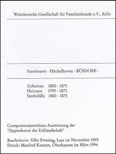 Verkartung Büsdorf (Standesamt)