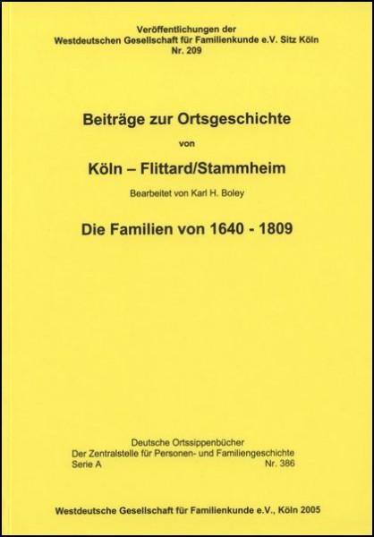 Familienbuch Flittard / Stammheim (Köln)