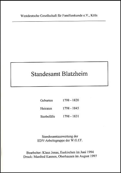 Verkartung Blatzheim (Standesamt)