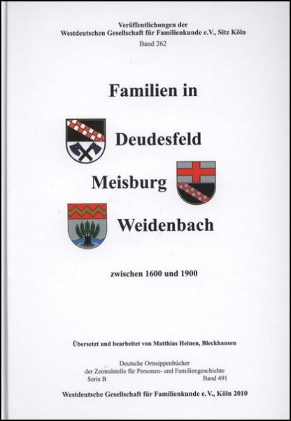 Familienbuch Deudesfeld, Meisburg, Weidenbach
