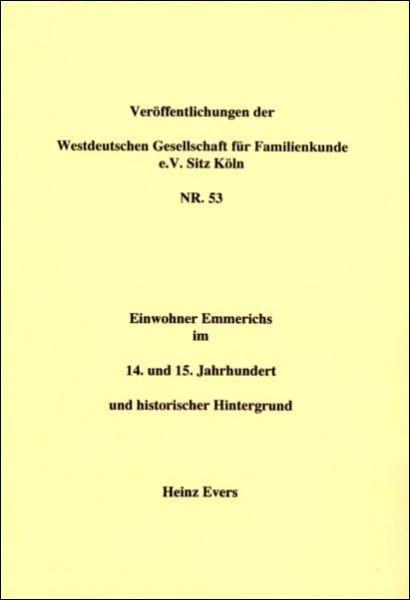 Einwohner Emmerichs im 14. u. 15. Jahrh.
