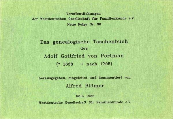 Taschenbuch des Adolf G. von Portman