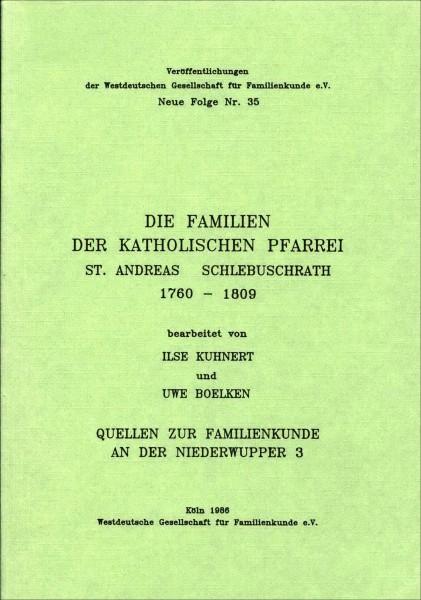 Familienbuch Schlebuschrath