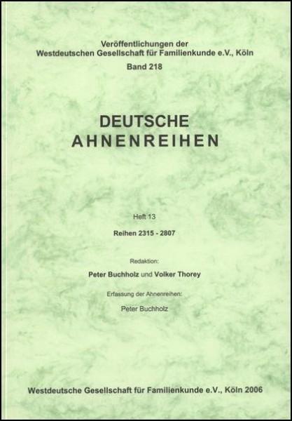 Deutsche Ahnenreihen Heft 13