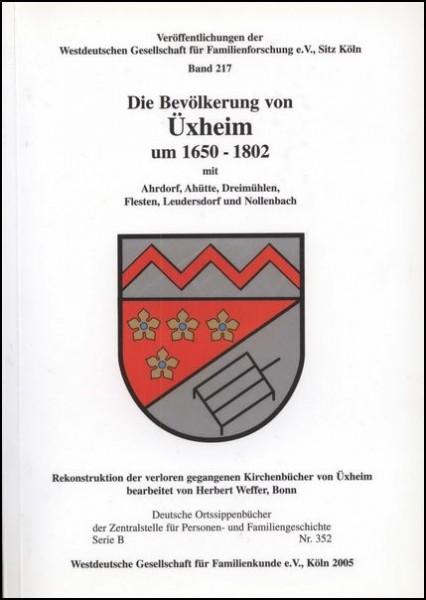 Familienbuch Üxheim 1650 - 1802