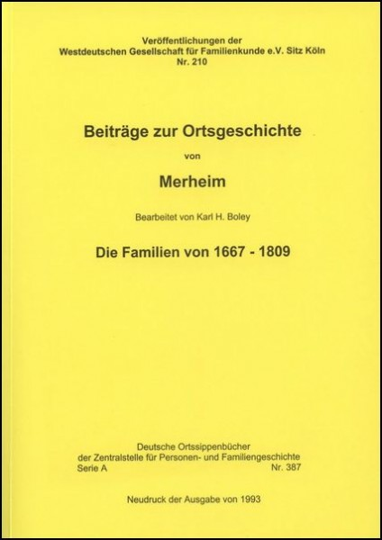 Familienbuch Merheim (Köln)