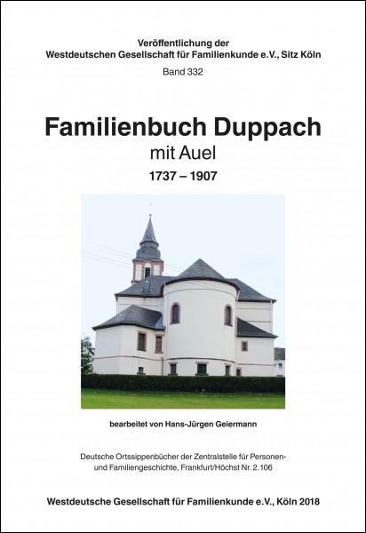 Familienbuch Duppach mit Auel 1737-1907