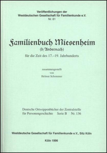 Familienbuch Miesenheim
