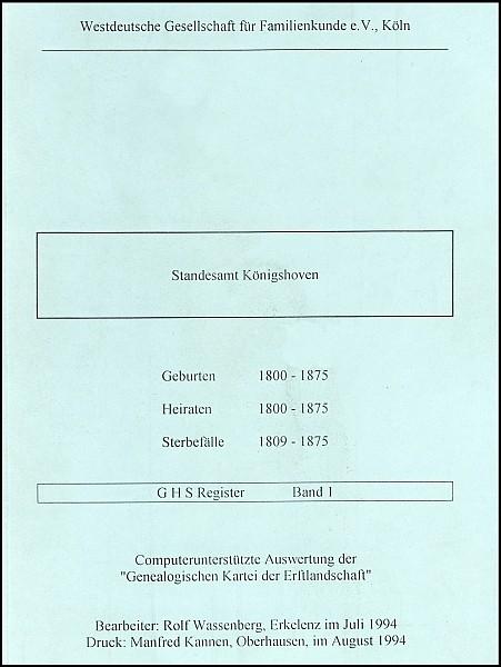 Verkartung Königshoven (Standesamt)