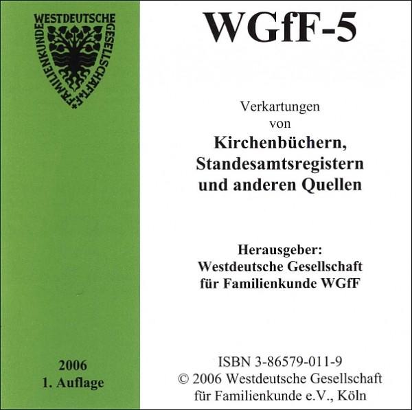 Verkartungen auf CD/DVD: WGfF-5 (Vol. 5)