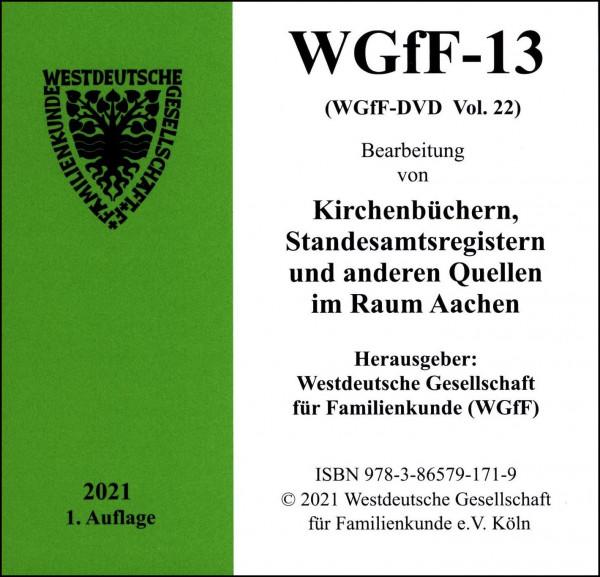 Verkartungen und Familienbücher auf CD/DVD: WGfF-13 (Vol.22)