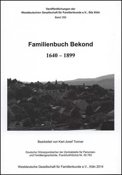 Familienbuch Bekond (1640 – 1899)