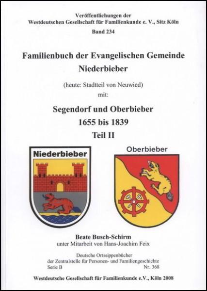 Familienbuch Niederbieber 1655 - 1839