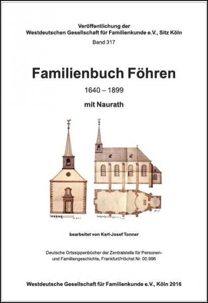 Familienbuch Föhren mit Naurath 1640-1899