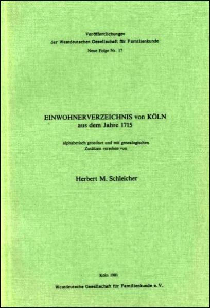 Einwohnerverzeichnis von Köln