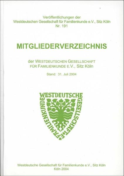 Mitgliederverzeichnis der WGfF 2004