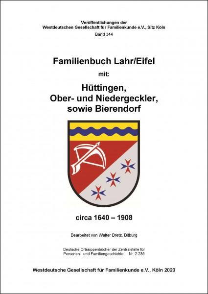 Familienbuch Lahr / Eifel ca. 1640-1908