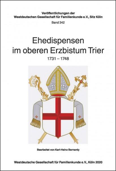 GVP - Ehedispensen im oberen Erzbistum Trier 1731-1748