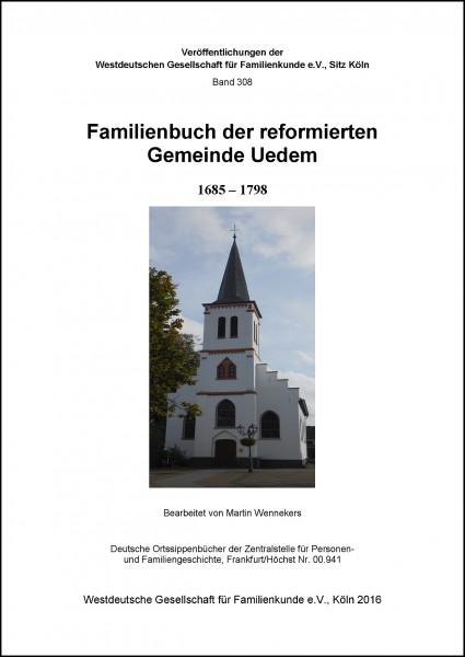 Familienbuch Uedem ref. 1685-1798