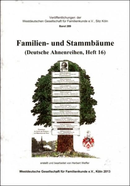 Deutsche Ahnenreihen Heft 16