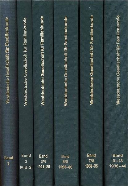 Mitteilungen der WGfF, Sammelband 14-17 (1950-1956)