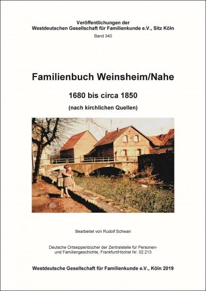 Familienbuch Weinsheim / Nahe 1680 - ca. 1860