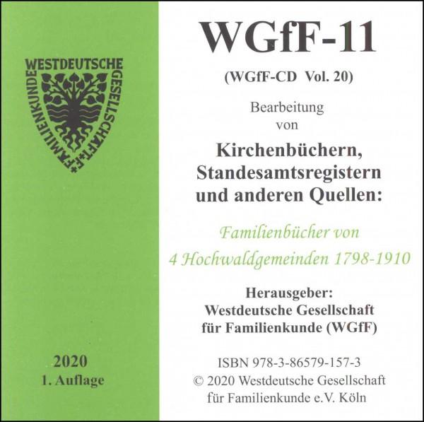 Verkartungen und Familienbücher auf CD/DVD: WGfF-11 (Vol.20)