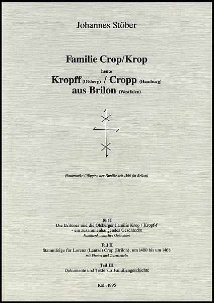 Familie Crop / Kropp aus Brilon