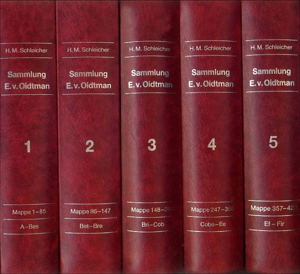 Sammlung Oidtman Bände I - XVIII