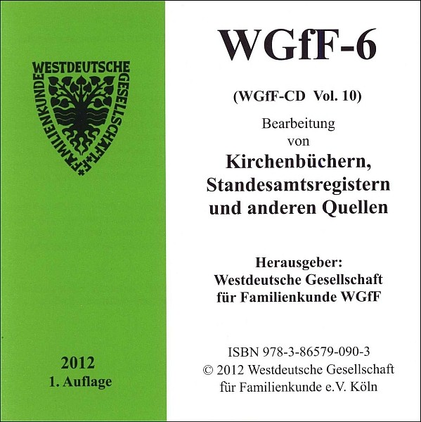Verkartungen auf CD/DVD: WGfF-6 (Vol. 10)