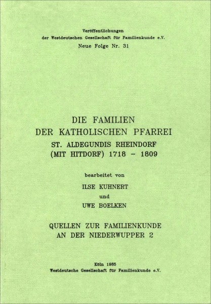 Familienbuch Rheindorf-Hitdorf