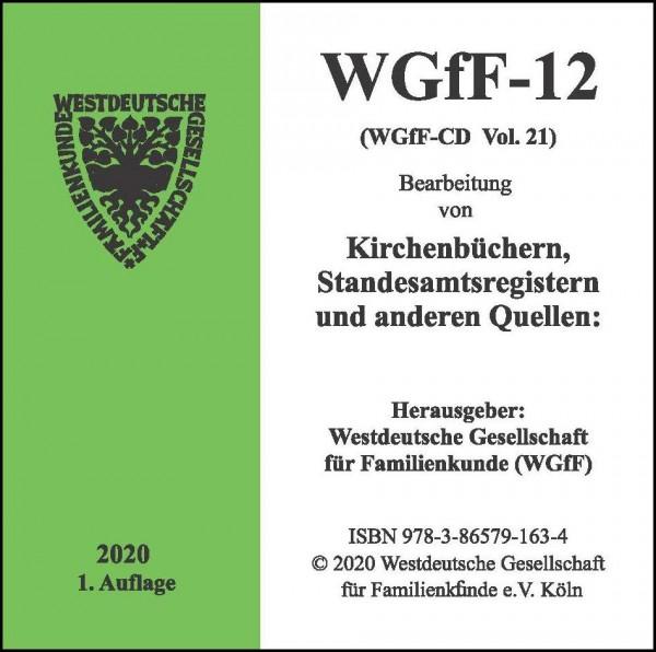 Verkartungen und Familienbücher auf CD/DVD: WGfF-12 (Vol.21)