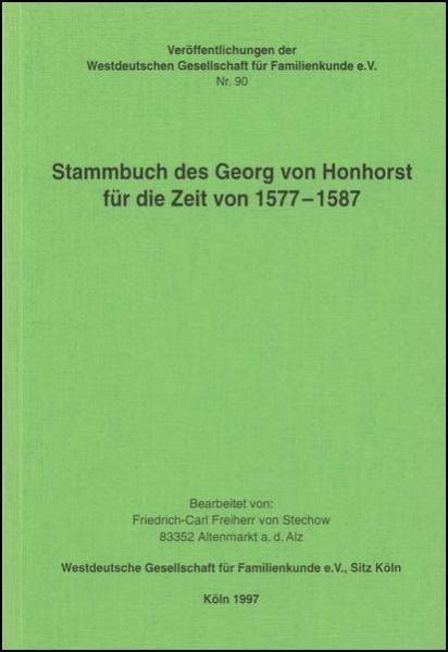 Stammbuch des Georg von Honhorst