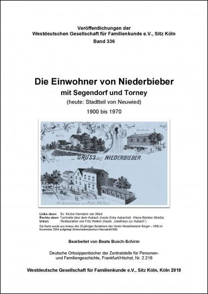 Familienbuch Niederbieber mit Segendorf und Torney 1900-1970