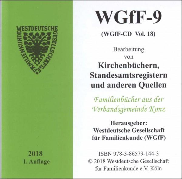 Verkartungen und Familienbücher auf CD/DVD: WGfF-9 (Vol. 18)