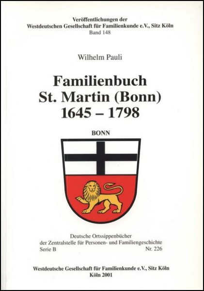Familienbuch Bonn (St. Martin) 1645-1798